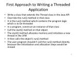 first approach to writing a threaded application