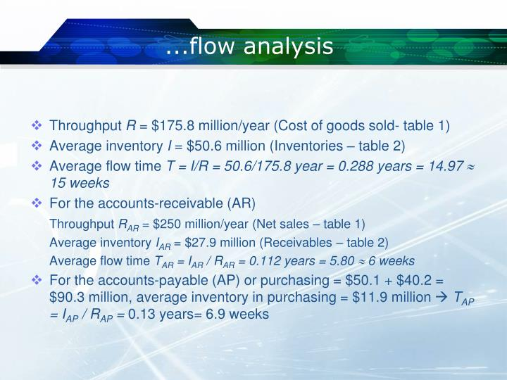 ...flow analysis