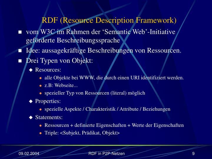 RDF (Resource Description Framework)