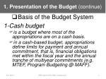 1 presentation of the budget continue1