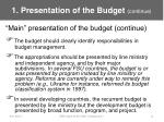1 presentation of the budget continue11