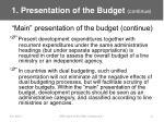 1 presentation of the budget continue13