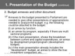 1 presentation of the budget continue15