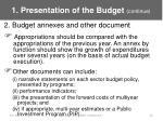 1 presentation of the budget continue16