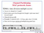 channel partitioning mac protocols issues