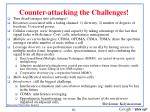 counter attacking the challenges
