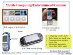 mobile computing entertainment commns