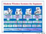 modern wireless systems by segment