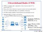ultrawideband radio uwb