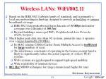 wireless lans wifi 802 11