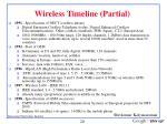 wireless timeline partial