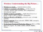 wireless understanding the big picture