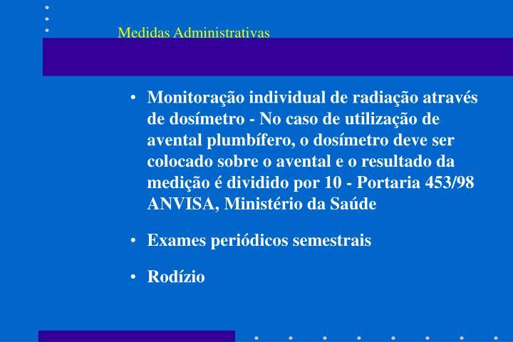 Medidas Administrativas