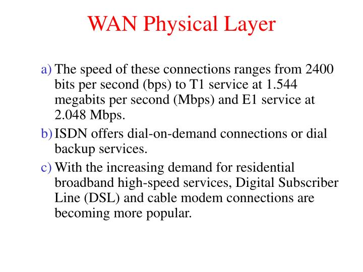 WAN Physical Layer