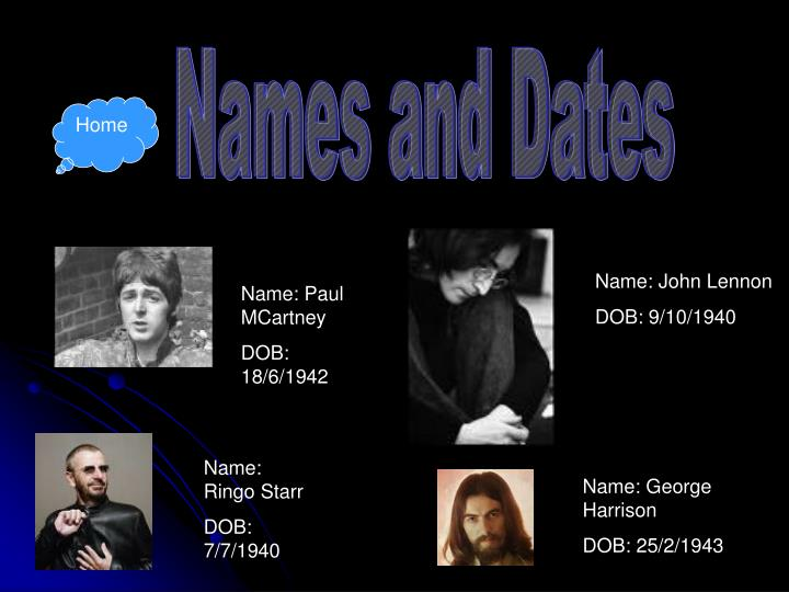 Names and Dates