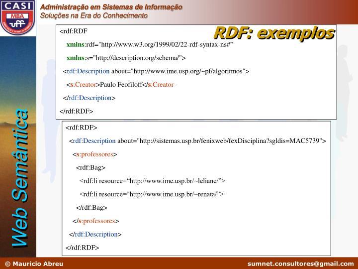 RDF: exemplos