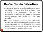 manfaat standar sistem mutu