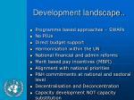 development landscape