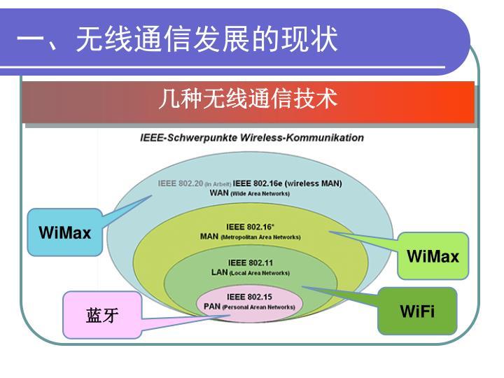 一、无线通信发展的现状