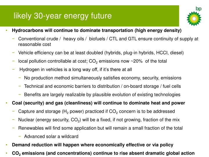 likely 30-year energy future