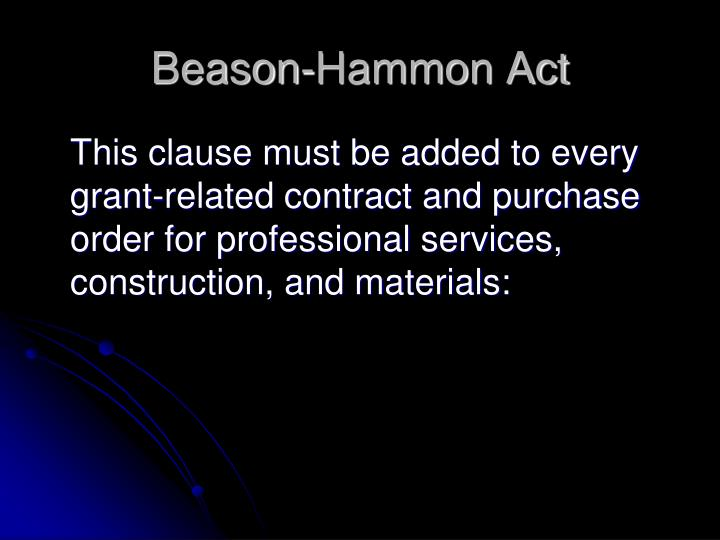 Beason-Hammon Act