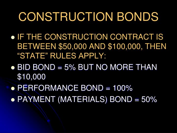 CONSTRUCTION BONDS