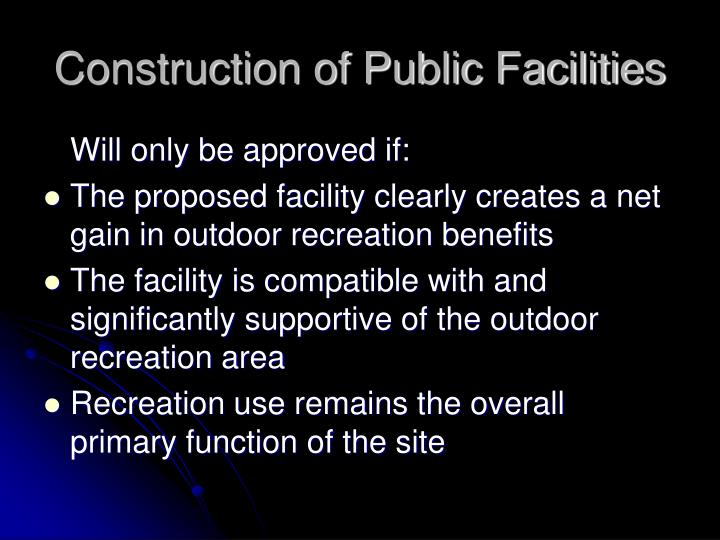 Construction of Public Facilities