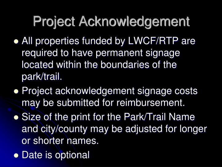 Project Acknowledgement