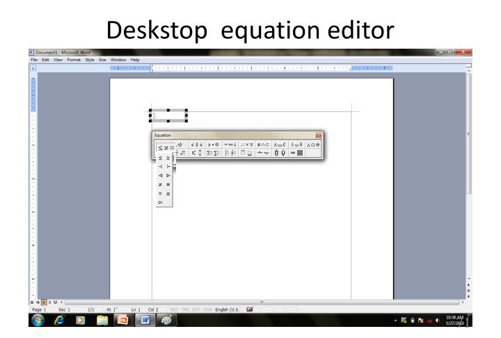 Deskstop  equation editor