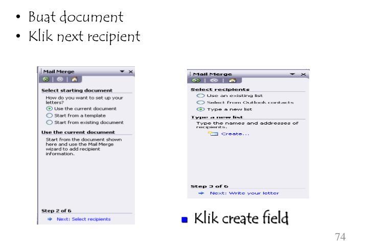 Buat document