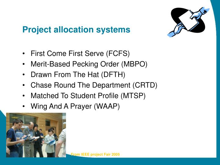 Project allocation systems