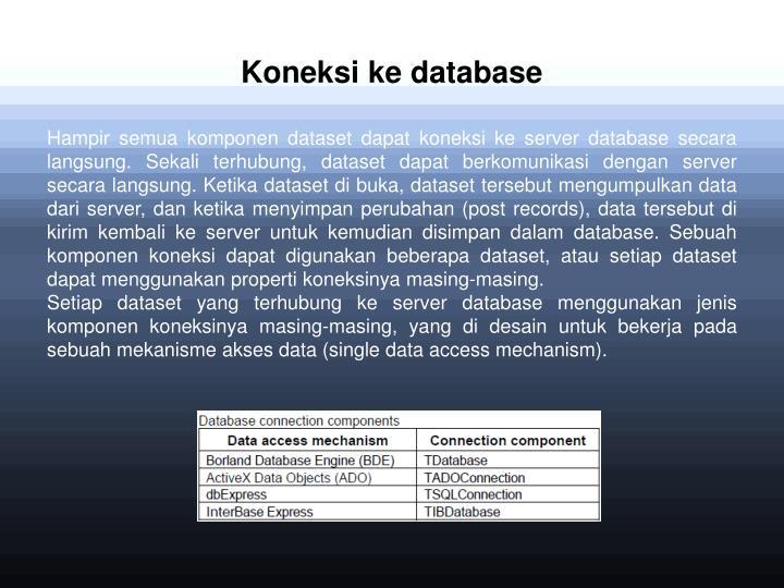 Koneksi ke database