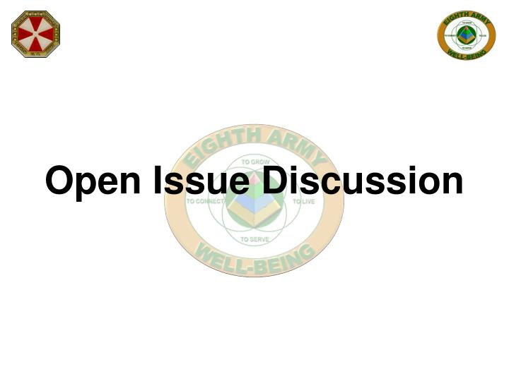 Open Issue Discussion