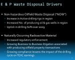 e p waste disposal drivers
