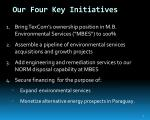 our four key initiatives