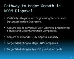 pathway to major growth in norm disposal