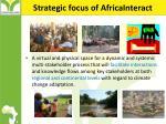 strategic focus of africainteract
