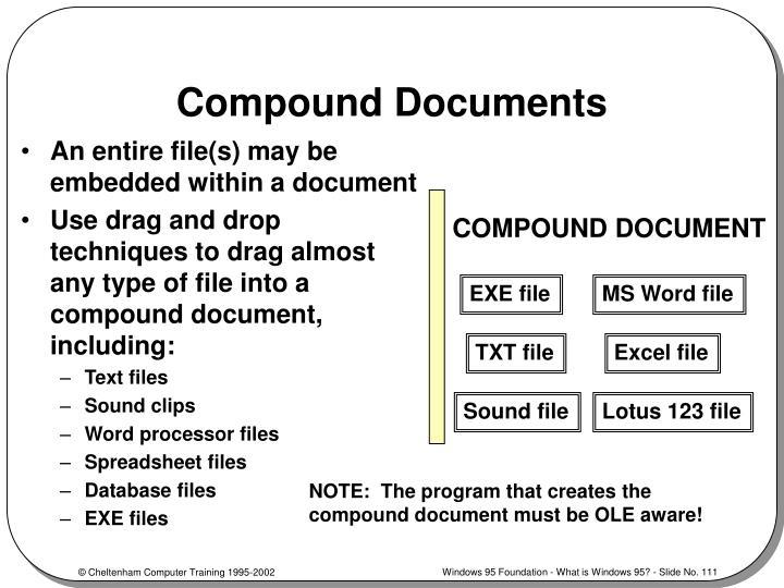 Compound Documents