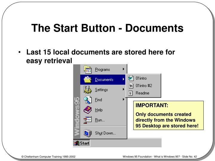 The Start Button - Documents