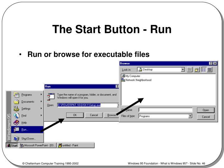 The Start Button - Run