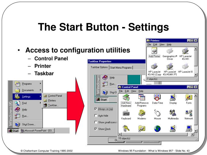 The Start Button - Settings
