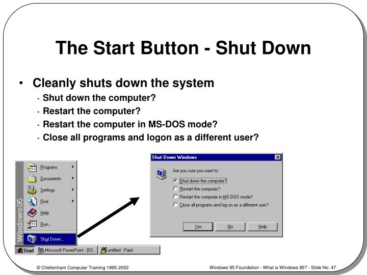 The Start Button - Shut Down
