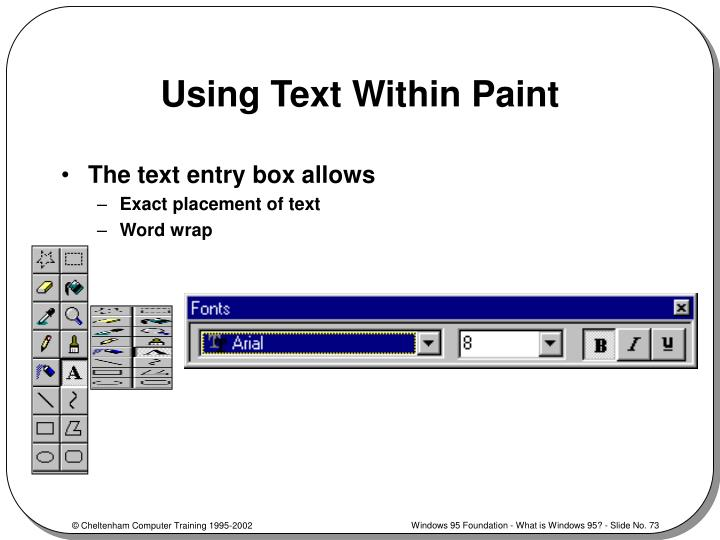 Using Text Within Paint