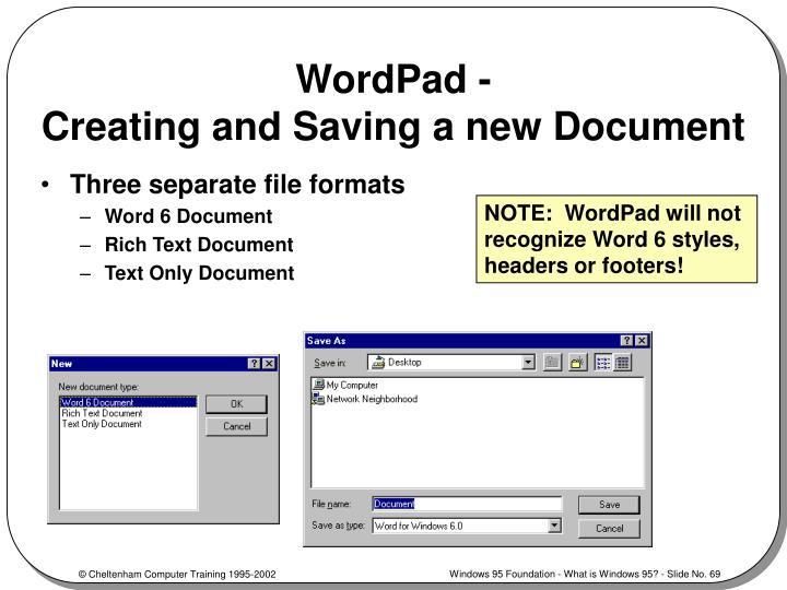 WordPad -