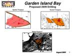 garden island bay proposed 2009 drilling