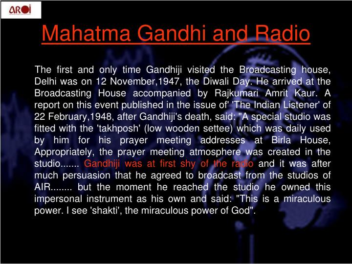 Mahatma gandhi and radio