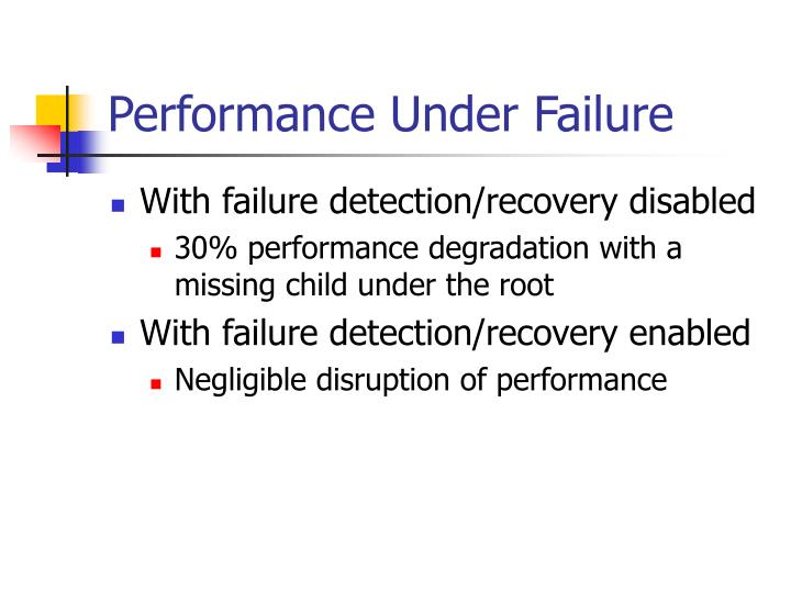 Performance Under Failure