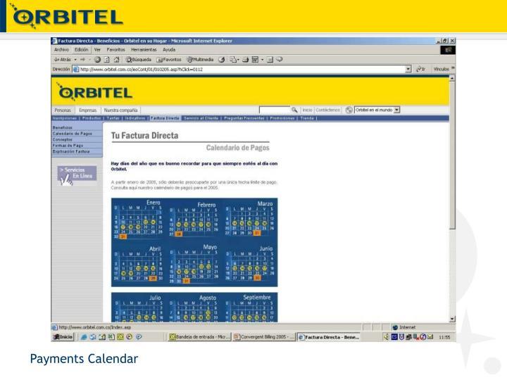 Payments Calendar