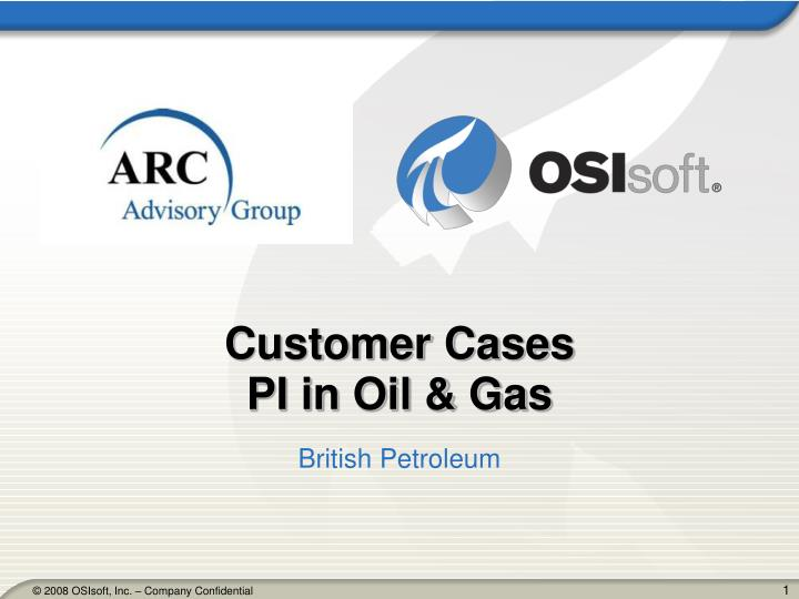 Customer cases pi in oil gas