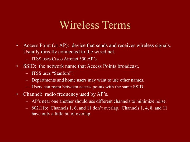 Wireless Terms